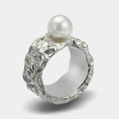 Ring silver mod 5 weiss 8bit